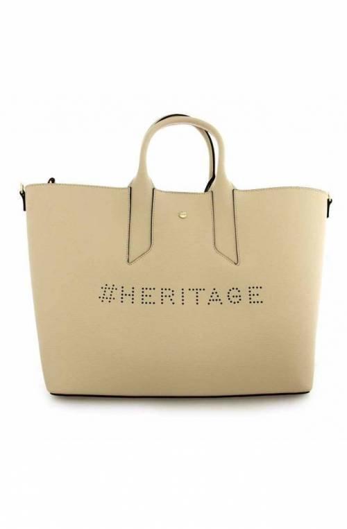 BORBONESE Bag Female Leather Beige - 963708-H97-945