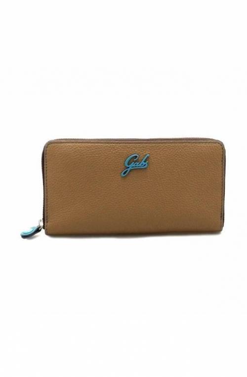 GABS Geldbörse GMONEY Damen Leder Braun - G000150NDP0086-C2021