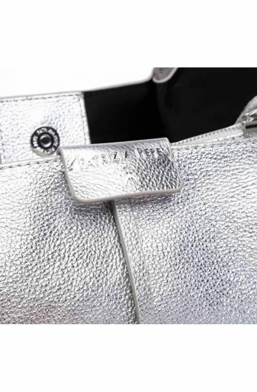 Borsa PATRIZIA PEPE Donna shopping Pelle Argento - 2V8895-A4U8N-S298