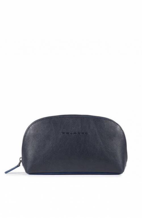 PIQUADRO Bag B2S Male Clutches Leather Black - AC5470B2S-BLU