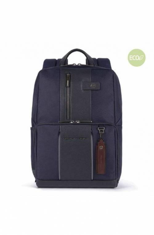 PIQUADRO Backpack Brief 2 led Male Blue - CA3214BR2L-BLU