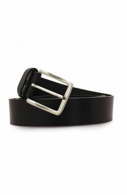 Cintura OFFICINE DEL CUOIO Uomo Pelle Nero - 001-40BLACK125