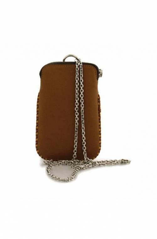 GIANNI CHIARINI Phone case PRETTY Female Leather Brown - BS8100VLV