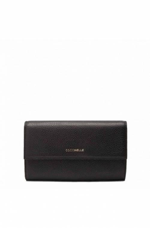 COCCINELLE Wallet Female Leather Black - E2HW5118501001