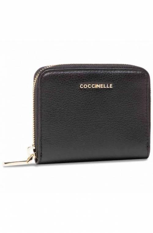 COCCINELLE Wallet Woman Leather Black - E2HW511A201001
