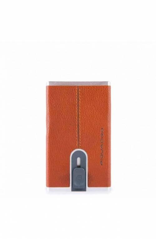 Porta carte di credito PIQUADRO Black Square Arancione - PP4825B3R-AR