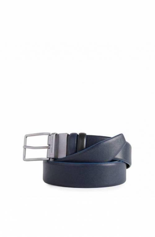 PIQUADRO Belt Blue Square Special Male Leather blue Black - CU4878B2S-NBLU