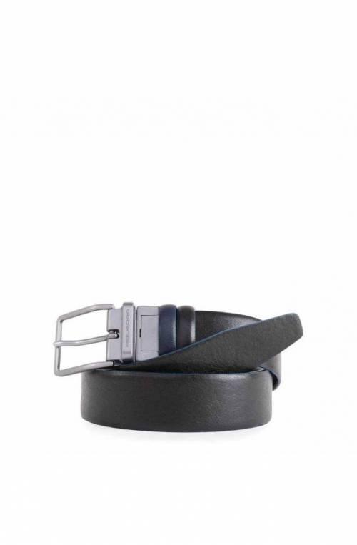 Cintura PIQUADRO Blue Square Special Uomo Pelle blu-Nero - CU4878B2S-NBLU