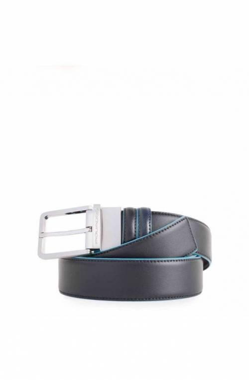 Cintura PIQUADRO Blue Square Uomo Reversibile Nero Blu- CU2619B2-NBLU2