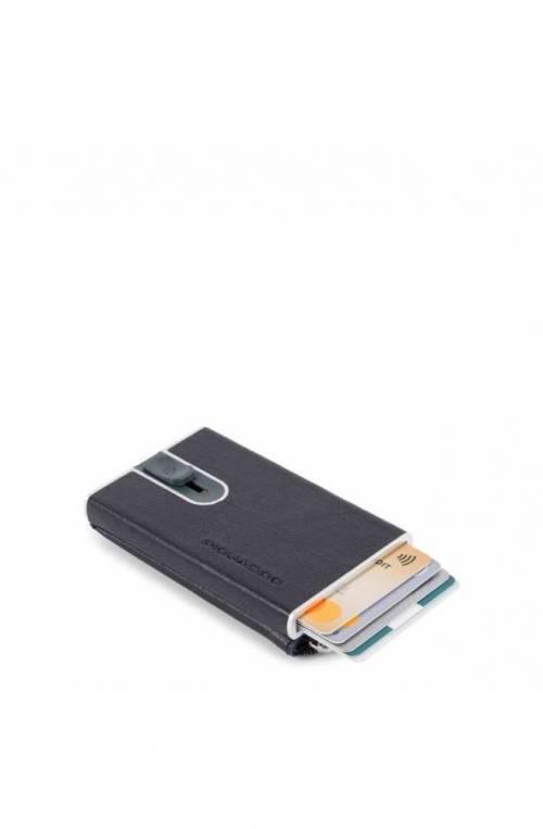 Porta carte di credito PIQUADRO Blu protezione anti frode RFID - PP5359B2SR-BLU