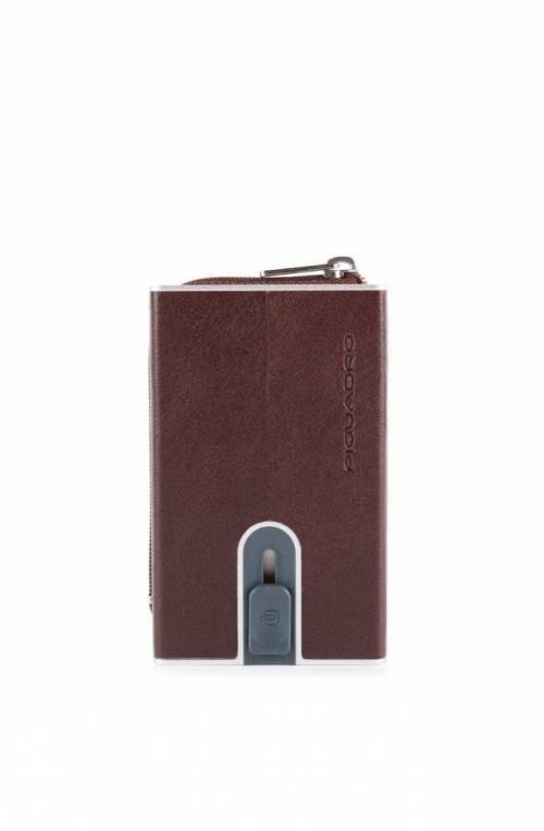Porta carte di credito PIQUADRO Marrone protezione anti frode RFID - PP5359B2SR-TM