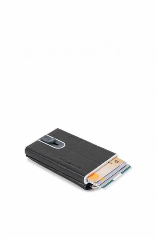 Porta carte di credito PIQUADRO Nero protezione anti frode RFID - PP5359B2SR-N