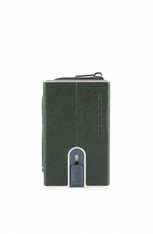 Porta carte di credito PIQUADRO Verde protezione anti frode RFID - PP5359B2SR-VE