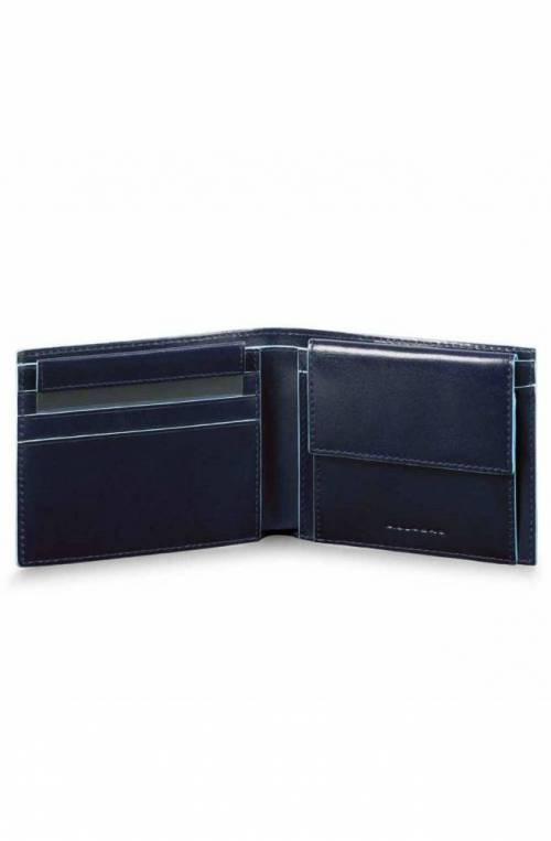 Portafoglio PIQUADRO Blue Square Uomo Pelle Blu - PU4188B2R-BLU2