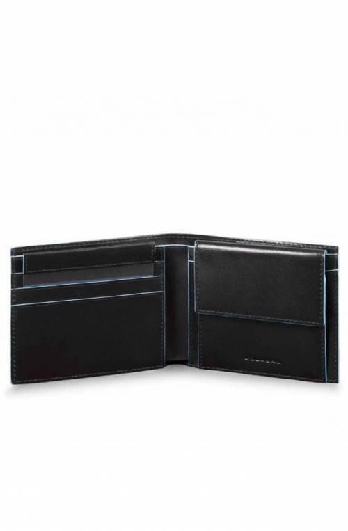 Portafoglio PIQUADRO Blue Square Uomo Pelle Nero - PU4188B2R-N