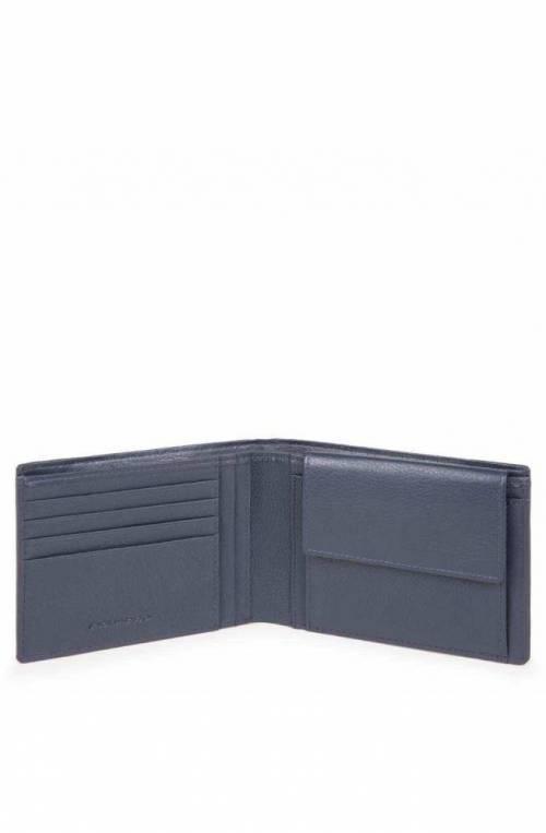 Portafoglio PIQUADRO P16Plus Uomo pelle e tessuto Blu - PU257P16-CHEVBLU