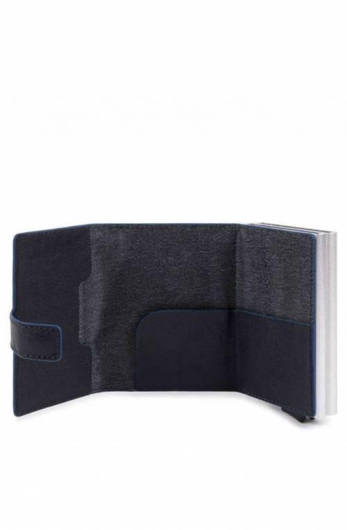 Portafoglio PIQUADRO Uomo Blu protezione anti-frode RFID - PP5472B2SR-BLU
