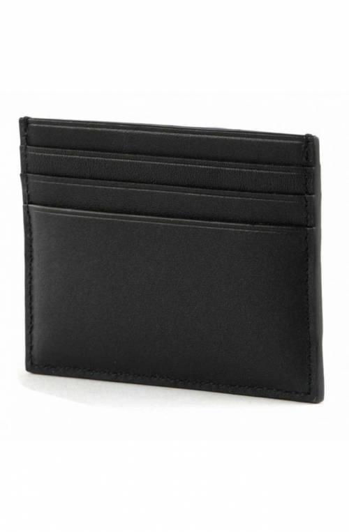 CALVIN KLEIN Credit card case Male Leather Black - K50K507144BAX