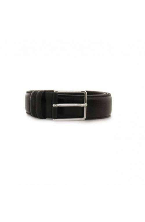 OFFICINE DEL CUOIO Belt Male Leather Black - 103-35NE115