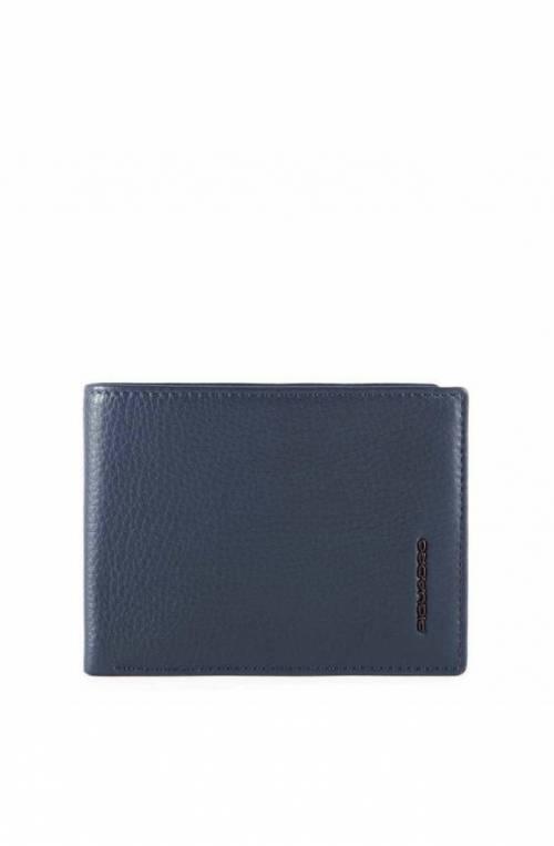 PIQUADRO Wallet Modus Special Male Leather Blue - PU257MOSR-BLU