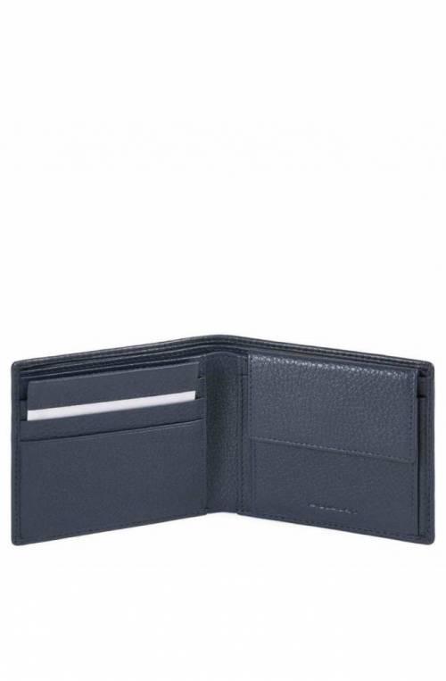 PIQUADRO Wallet Modus Special Male Leather Blue - PU4188MOSR-BLU