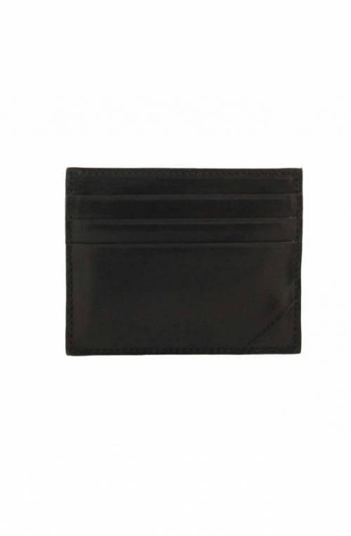 The Bridge Credit card case Male Leather Black - 01410101-20