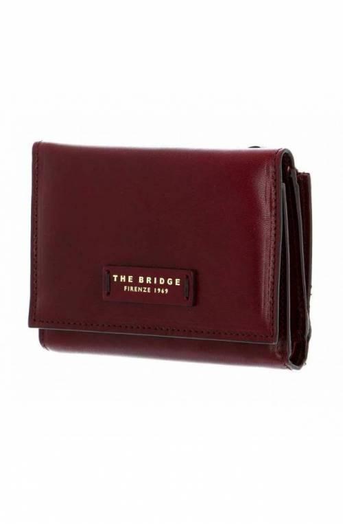 The Bridge Wallet Female Leather Bordeaux- 01745101-03