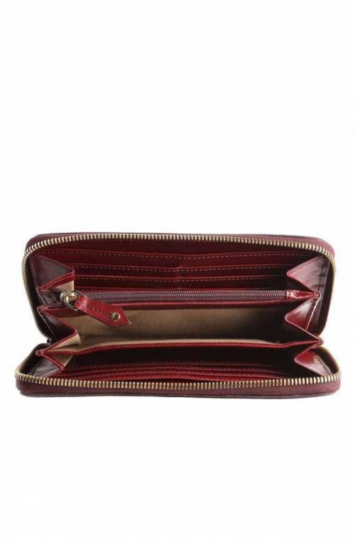 The Bridge Wallet Female Leather Bordeaux- 01741101-03