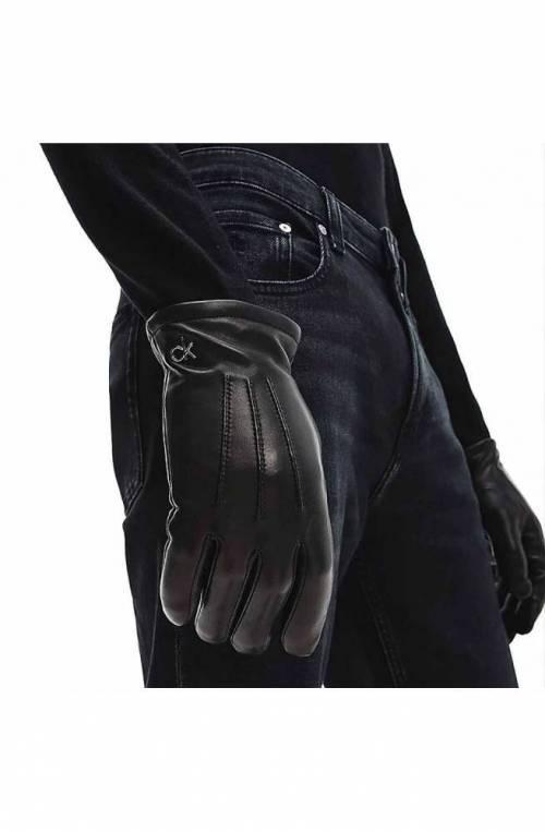 CALVIN KLEIN Handschuhe METAL Unisex Leder Schwarz - K50K506078BAX-M-L