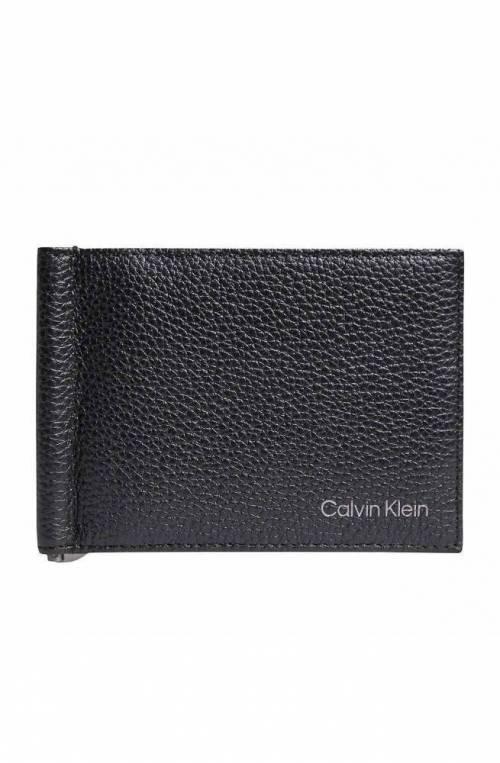 CALVIN KLEIN Wallet WARMTH Male Leather Black RFID anti-fraud protection - K50K507405BAX