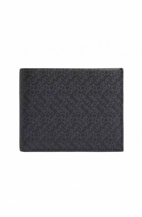 CALVIN KLEIN Wallet ZIG ZAG Male Leather Black RFID anti-fraud protection - K50K50754301B