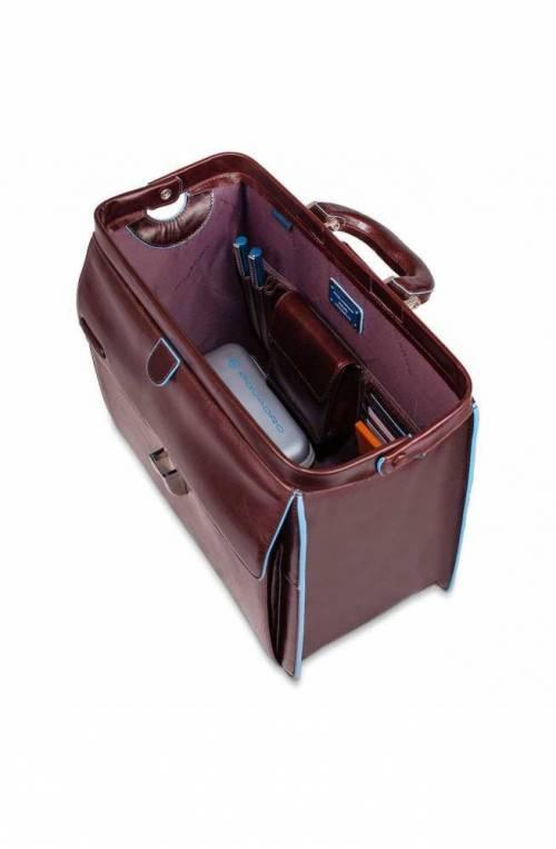 PIQUADRO Bag Blue Square Doctor Bag Leather Brown - CA2007B2-MO