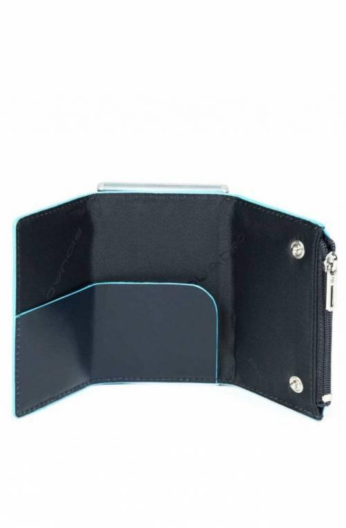 PIQUADRO Kartenhalter Blau Leder Kartenfächer - PP5585B2R-BLU2