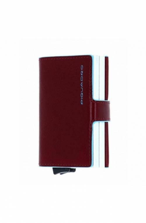 PIQUADRO Kartenhalter Blue Square Braun Leder - PP5472B2R-MO