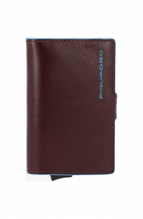 PIQUADRO Kartenhalter Blue Square Braun RFID - PP5649B2R-MO