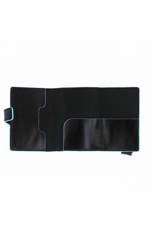 PIQUADRO Kartenhalter Blue Square Schwarz Leder - PP5472B2R-N