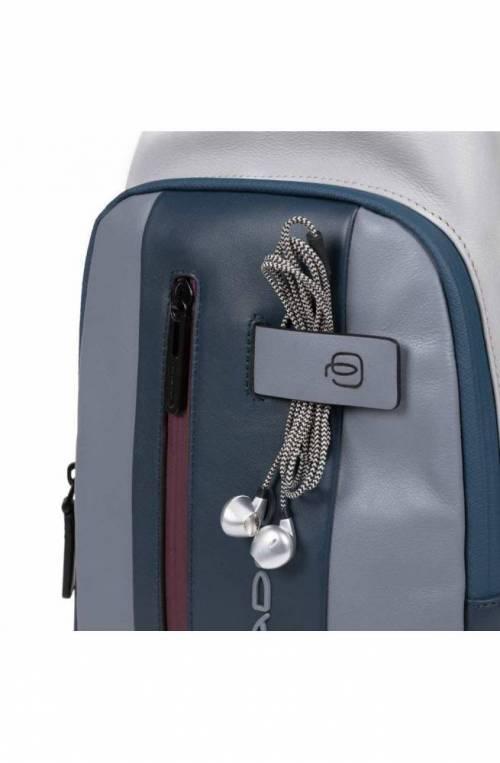 PIQUADRO Bag Urban Mono sling Leather Gray CA4536UB00-GRBO