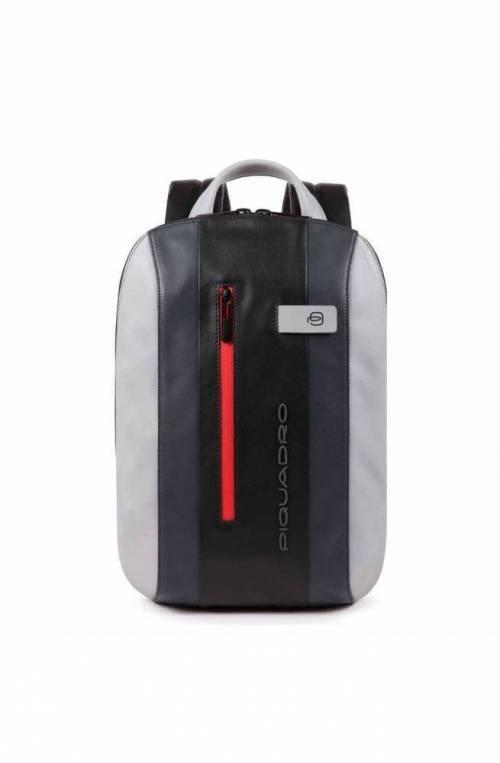 PIQUADRO Backpack Urban mini Male Leather Grey - CA5608UB00-GRN