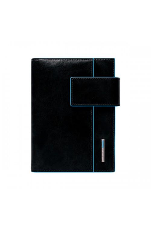 Agenda medio in pelle con patta e porta penne Blue Square AG1076B2-N