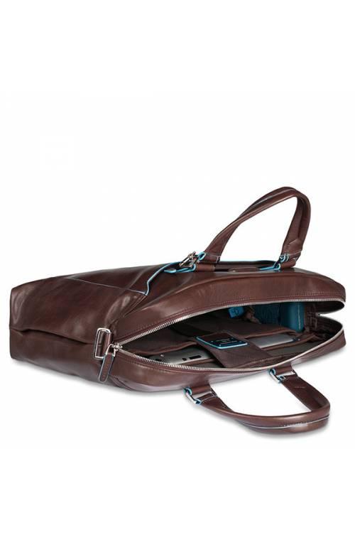 PIQUADRO Bag BLU SQUARE Male Computer portofolio brief Brown - CA3335B2-MO