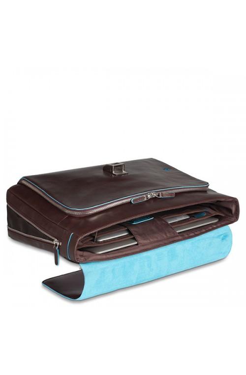 PIQUADRO Bag Blue Square Computer portofolio brief Leather Blue - CA3111B2-BLU2