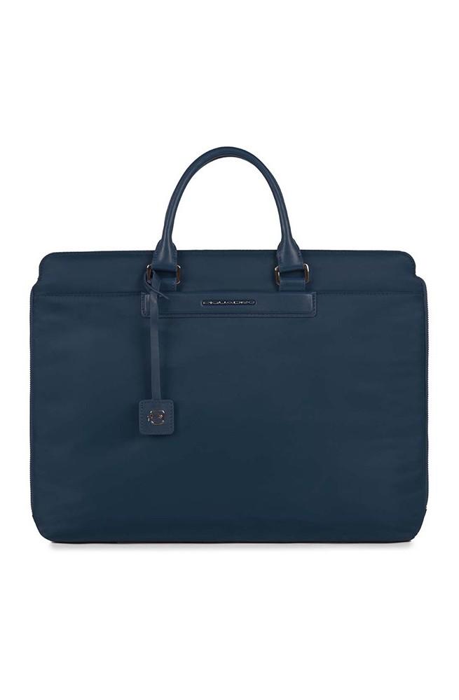 PIQUADRO Bag LOIRE Unisex leather and fabric Blue - CA3467S91-BLU