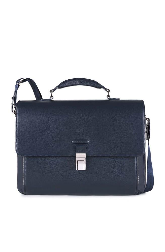 PIQUADRO Bag Modus Male briefcase Leather Blue - CA3111MO-BLU