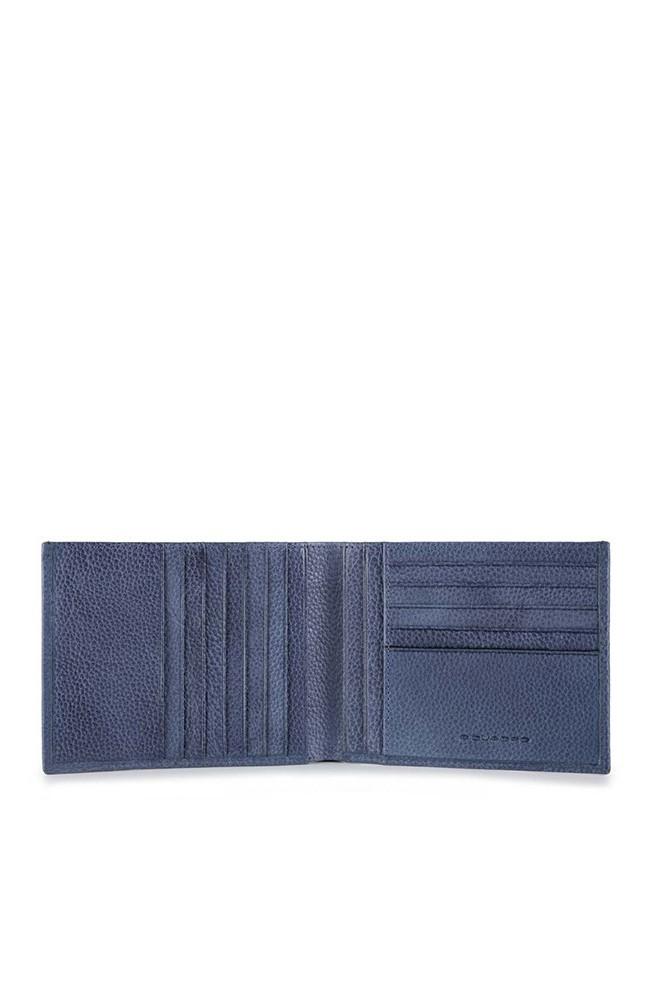 Portafoglio PIQUADRO P15Plus Uomo Pelle Blu - PU1241P15S-BLU